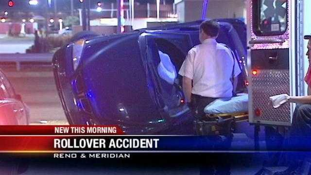 2 drivers uninjured in Oklahoma City rollover crash