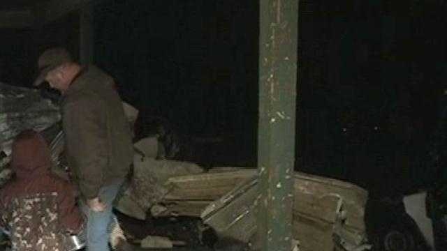 Severe storms Saturday night ripped a roof off of a home in Sallisaw in Sequoyah County.