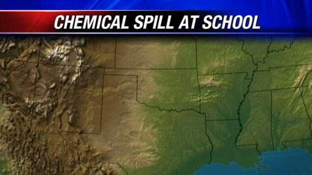 Chemical spill at school causes alarm