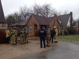 Crews responded to a house fire in the 2500 block of Northwest 23rd Street on Wednesday afternoon and rescued a man from the home.