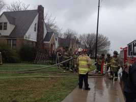KOCO's Erielle Reshef is reporting that the man set the house on fire after an argument with another person in the home.