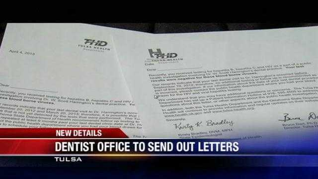 Tulsa dentist office sends out letters for follow-up test