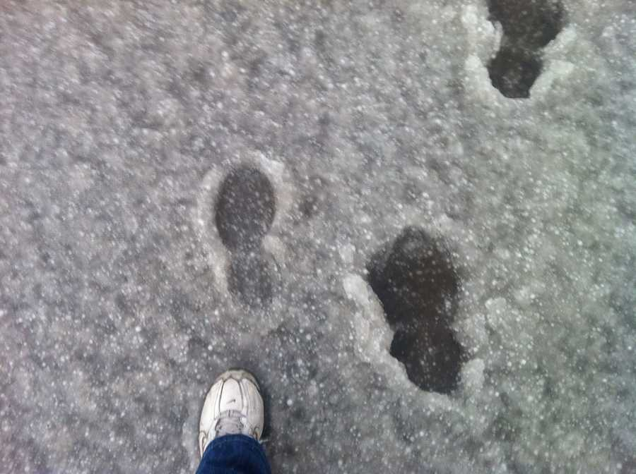 Footsteps in Fort Supply.