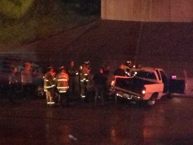 This was a pretty bad crash that Billy Dry found along I-235 early Tuesday morning.