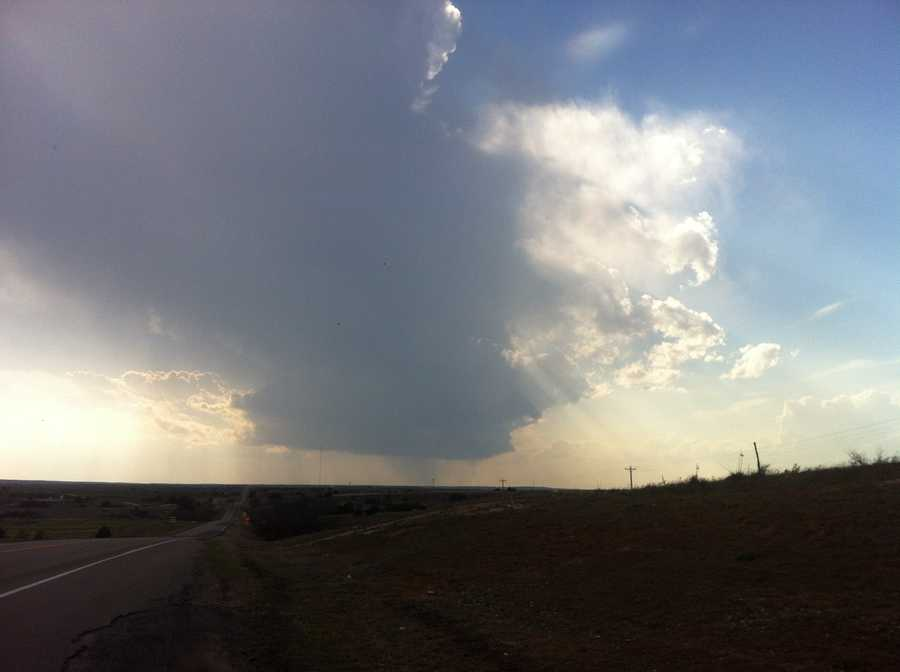 These are clouds over Woodward, snapped Monday night by KOCO's Kim Passoth.