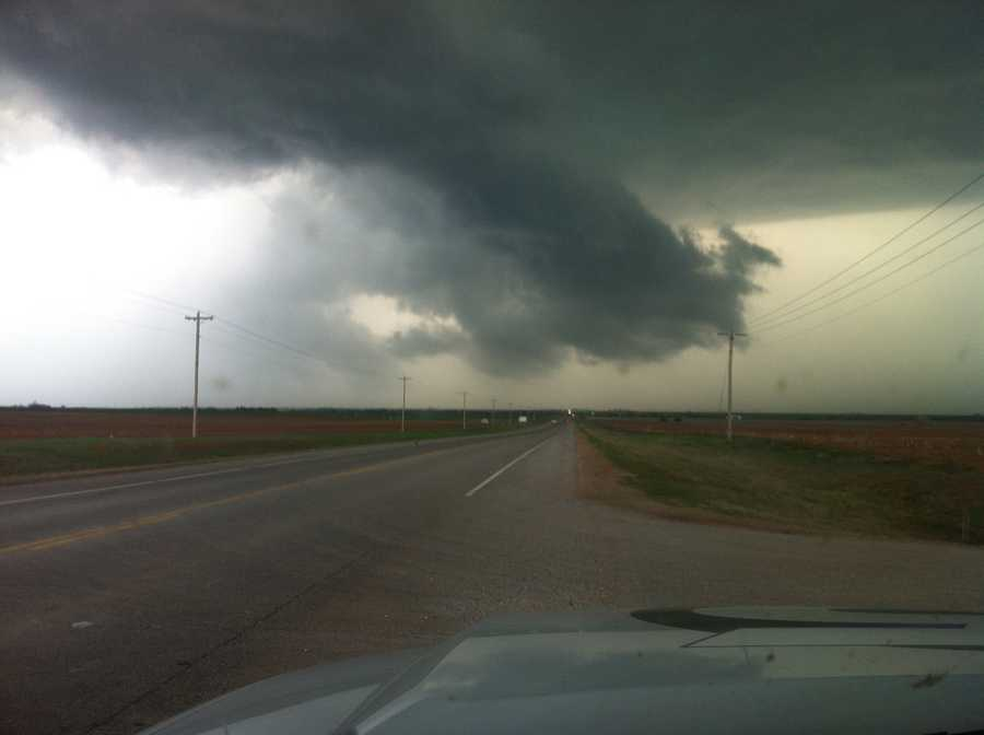 KOCO 5 News reporter Kim Passoth snapped these pics from Alva on Monday night.