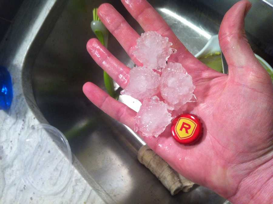Robb Madison sent us this pic of hail from Council and Memorial in Oklahoma City.