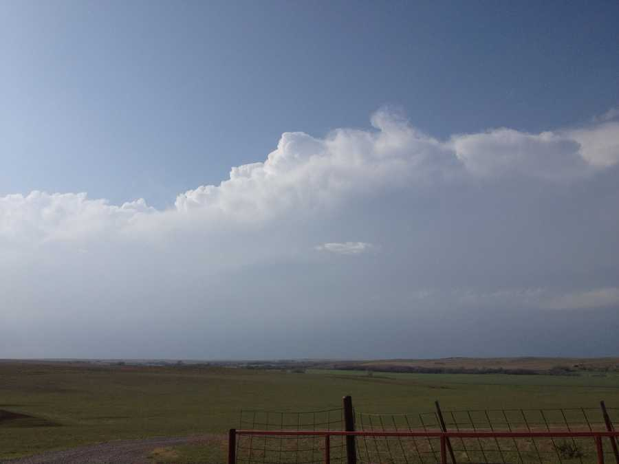 This pic was taken north of Hammon earlier in the day. Hammon is in Custer County.