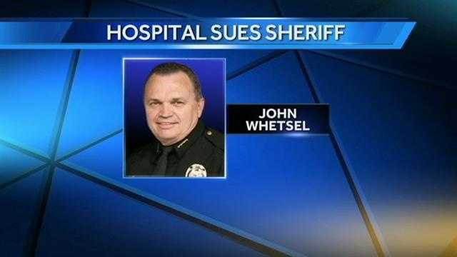 The University of Oklahoma Medical Center is suing Oklahoma County Sheriff John Whetsel. The hospital says the sheriff is releasing sick inmates before they're admitted to save money.  The hospital says the county owes it nearly $1 million.