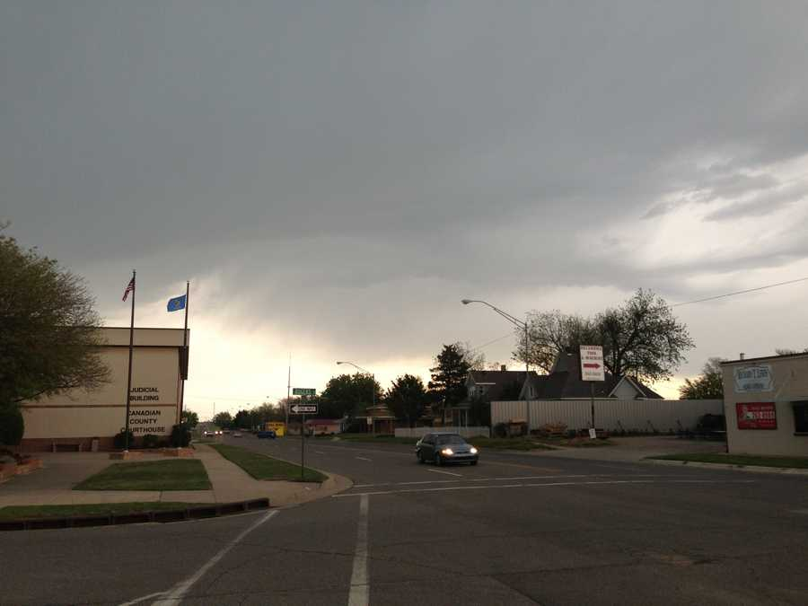 KOCO 5 News reporters snapped photos as storms approached the Oklahoma City metro area. This was snapped Wednesday afternoon in El Reno.