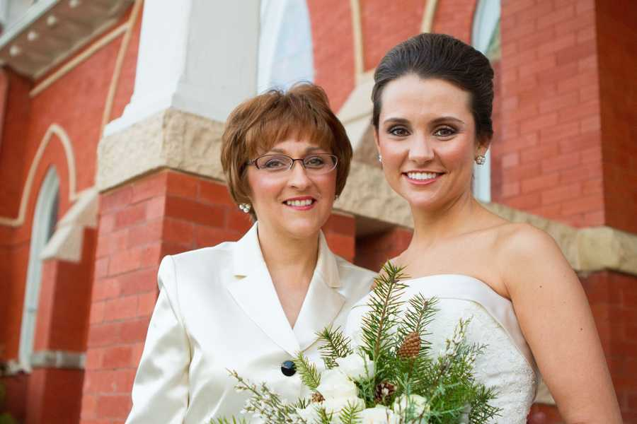 Katy Blakey and her mother.