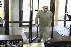 The robber is described as a black male wearing khaki pants and a blue hooded sweatshirt, police said.