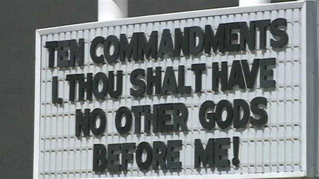 An Eastern Oklahoma school district removed plaques of the Ten Commandments from classrooms and that decision is sparking outrage across the country. The board in Muldrow was concerned about a potential lawsuit.