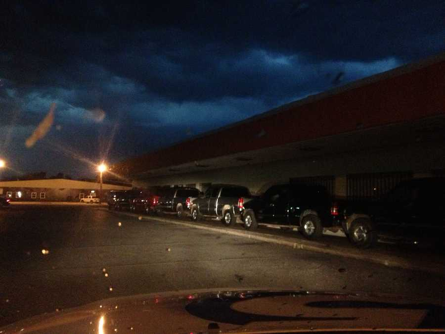 Kim Passoth and Billy Dry covered a severe storm that moved through Anadarko on Saturday night.
