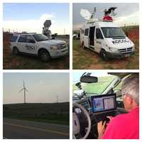 KOCO 5 News reporter Michael Seiden and photojournalist Chris Lee were prepared for any and all storms Saturday in northwest Oklahoma.