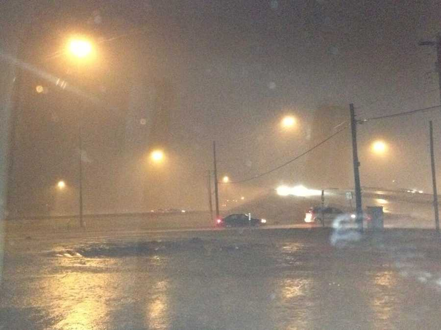 KOCO's Patti Moon covered the metro as storms moved through late Saturday.