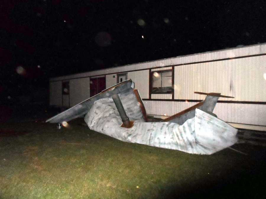 A viewer emailed these pics of damage sustained from a storm in Enid on Saturday night.