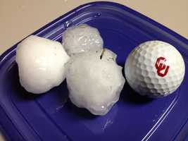 Golf ball sized hail in Norman near Tecumseh and NW 36th