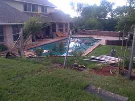Home damaged in the Thornbrook neighborhood