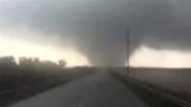 William Weaver sends us this video from a large tornado that hit Shawnee on Sunday afternoon.