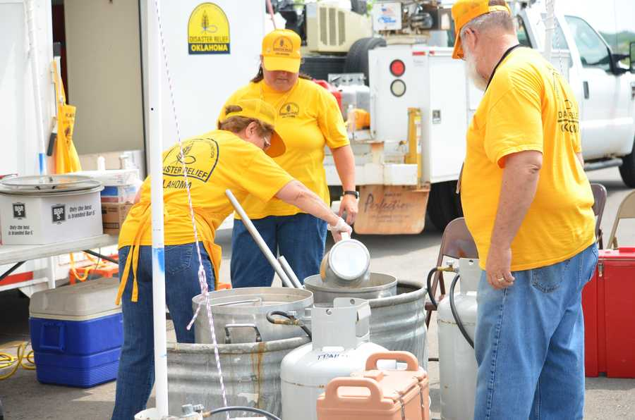 Oklahoma Baptist Disaster Relief Feeding Unit in Shawnee