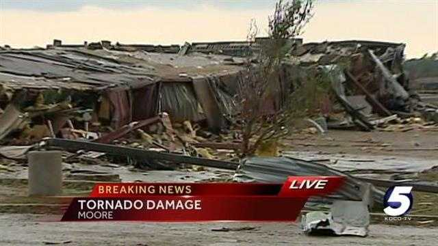 KOCO 5 News reporter Erielle Reshef has this report from near the Warren Theatre in Moore, where a tornado caused extensive damage.
