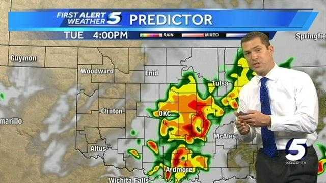 KOCO Chief Meteorologist Damon Lane has your Monday night forecast and Tuesday severe weather outlook.