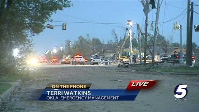 Terri Watkins with Oklahoma Emergency Management talks about what people can do to help with recovery efforts following Monday's deadly tornado.