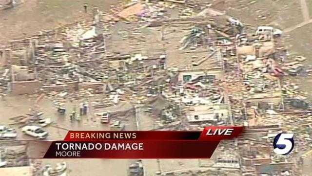 Watch aerial tour of tornado damage in Moore