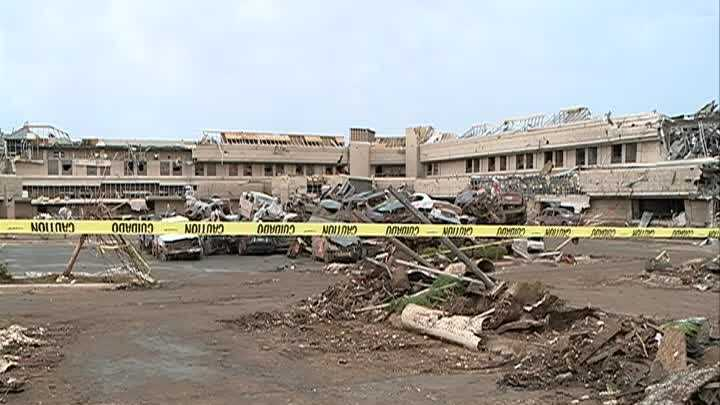 The Moore Medical Center took a hard hit from an EF-5 tornado that ripped through the city May 20.