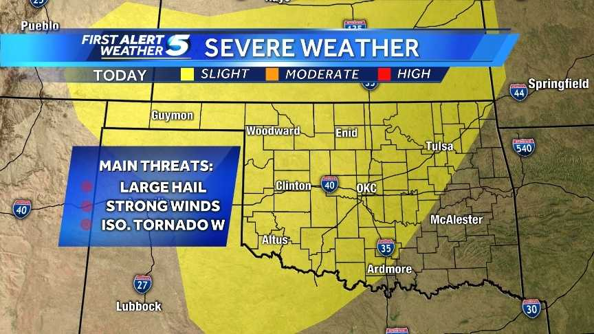 Severe weather outlook Tuesday