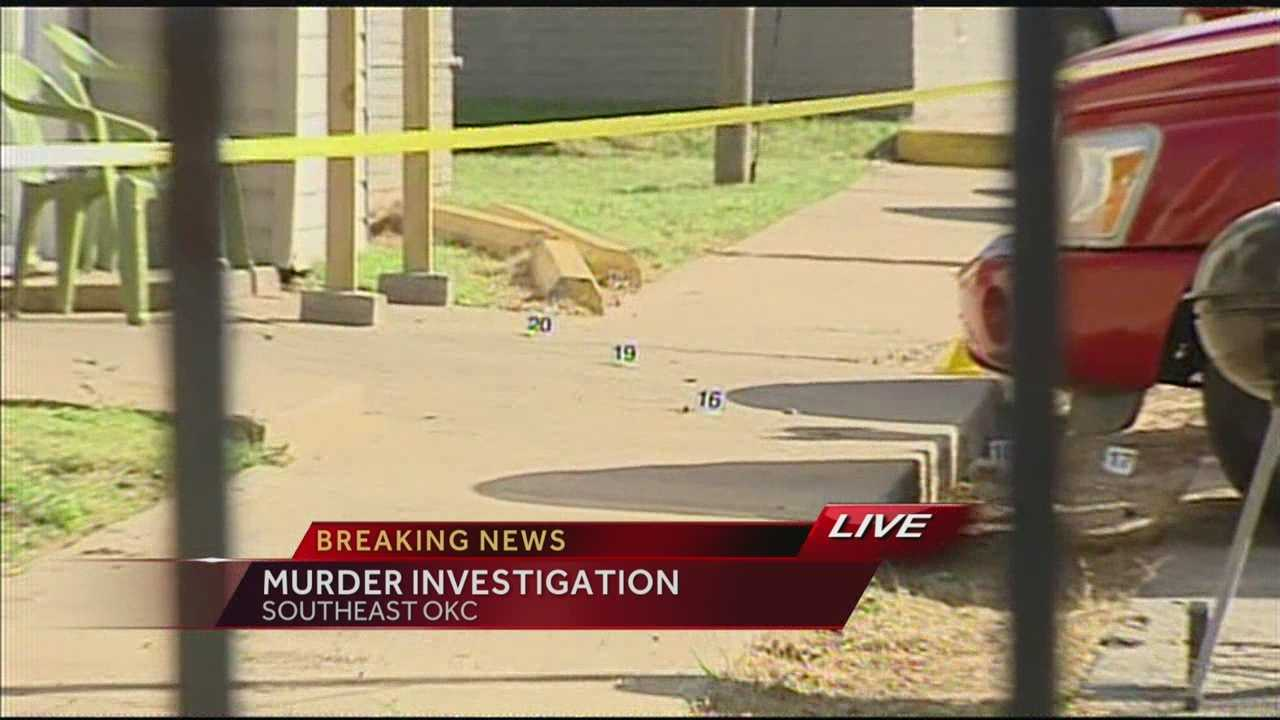 In broad daylight, somebody shot and killed a resident of an apartment complex in the 400 block of Tinker Diagonal.