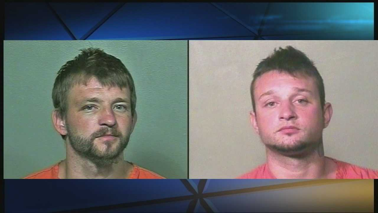 The two men spent about 45 minutes at a gas station on Wednesday night posing as Oklahoma sheriff's deputies. KOCO's Kim Passoth has the story.