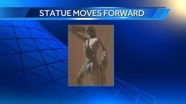 A proposed 218-foot statue was approved on Monday but officials are still discussing ways to fund the project. A city near Tulsa says the structure could attract up to two million people a year.