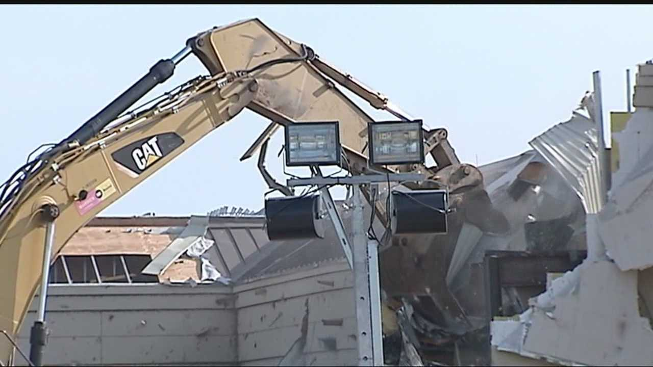 A big step towards healing for Moore: The Moore Medical Center has been torn down. KOCO's Rob Hughes explains that it's a symbol of moving forward for this Oklahoma city.
