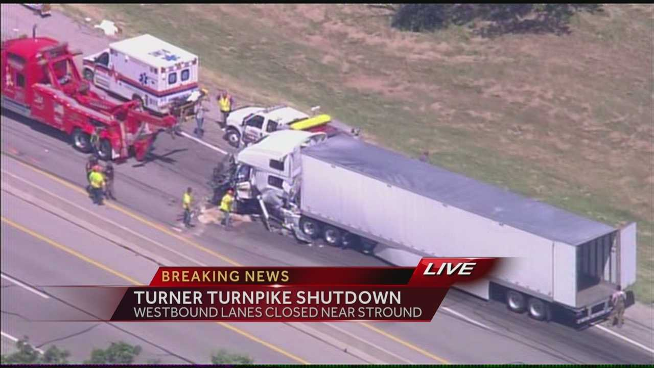 A crash along the Turner Turnpike, westbound, near Stroud has prompted its closure. KOCO's Wendell Edwards has the details.