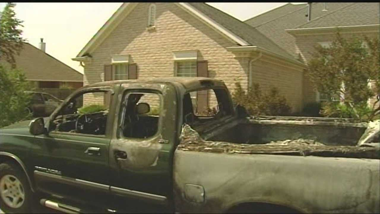 Somebody torched two vehicles and vandalized a southwest Oklahoma City home overnight Thursday, and police say it might be a hate crime.