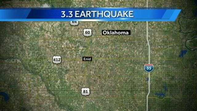 A 3.3 magnitude earthquake struck near Enid this morning. People in Ponca City may have felt it as well.