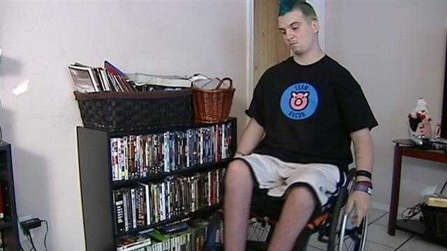 Bronson Quickle was paralyzed from the waist down after he was shot in May 2012.