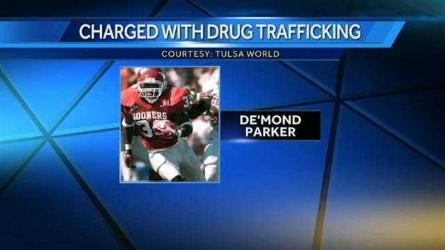 A former OU star running back faces cocaine trafficking charges. Tulsa Police arrested De'Mond Parker after they say they found cocaine, marijuana and a machete inside the vehicle he was driving.