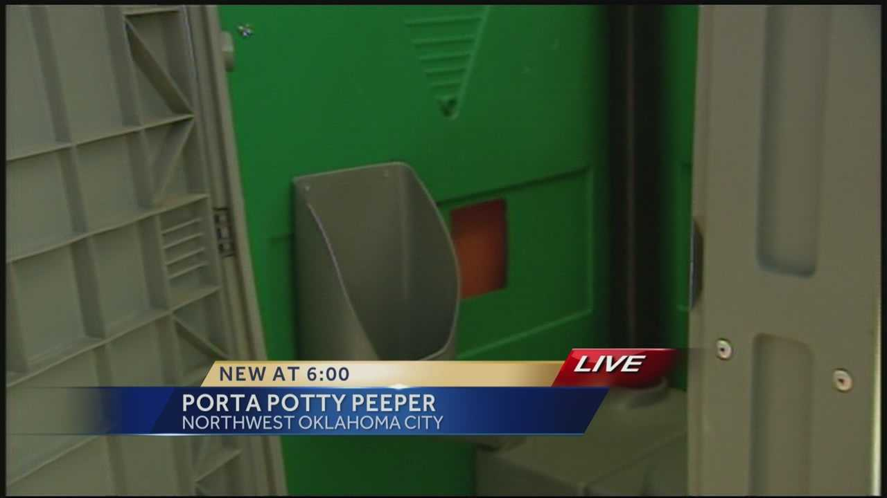 Oklahoma City Police arrest a 50-year-old man on a peeping tom charge after, they said, he was peeping into a Porta Potty at Will Rogers Park.