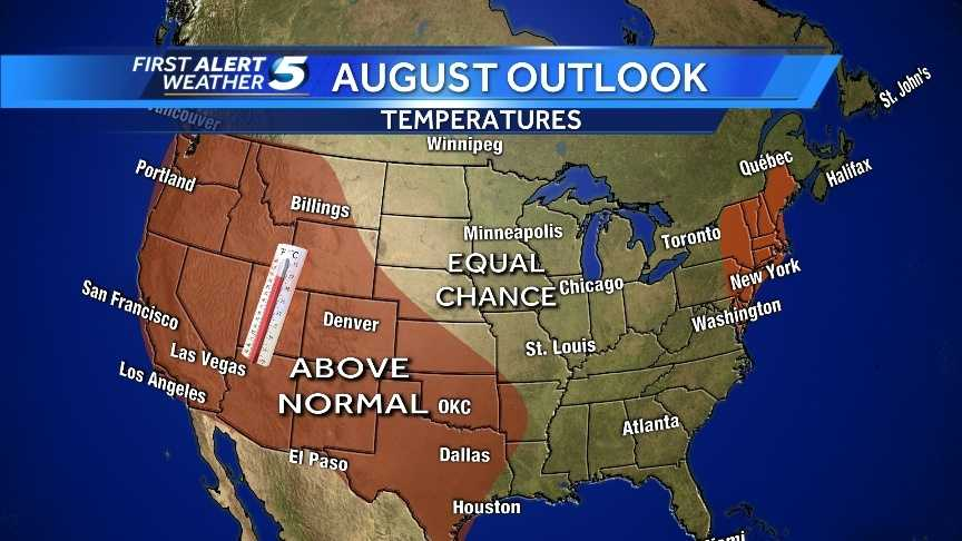 August temperature outlook