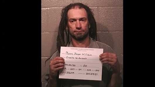 "Jason ""Bo"" Dunn, 39, was arrested on a complaint of animal cruelty. Click here to find out what Dunn's next-door neighbor had to say about the alleged crime."