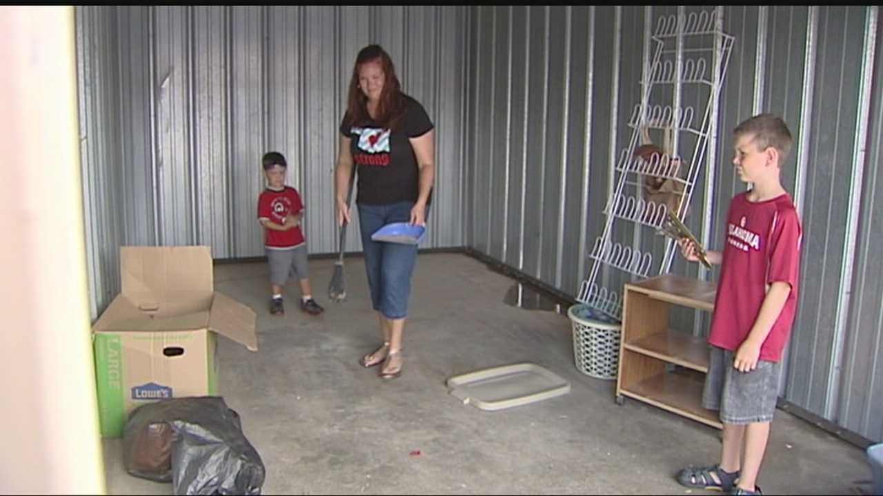 Kristy Jones said her mother and sister were using a unit to store what little they salvaged from their home, which was destroyed by the May 20 tornado.