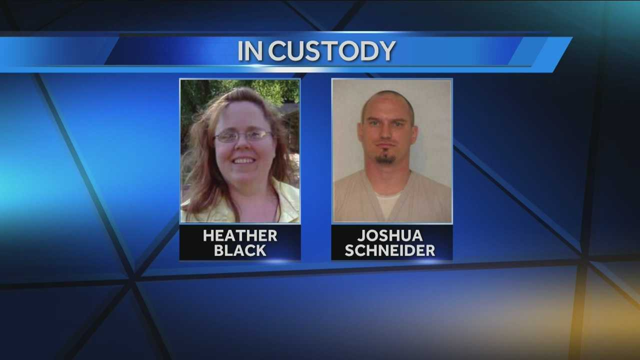 Authorities arrested a Black Arrow man and his girlfriend who they said have been on the run for more than a week.