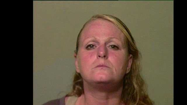 Julie Brown, 45, arrested on suspicion of being a prostitute.