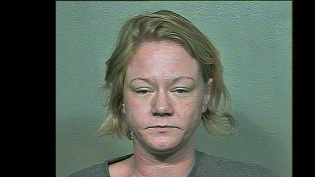 Brooke Jackson, 31, arrested on suspicion of being a prostitute.