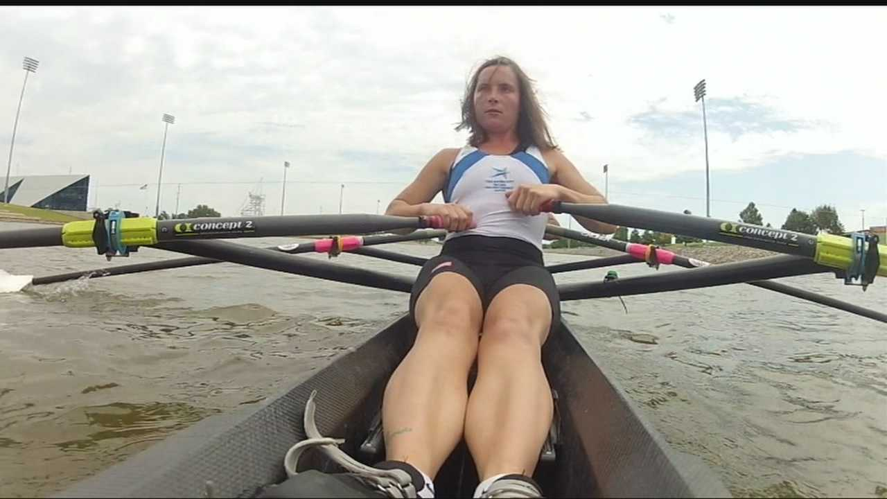 Rower says her vision is not an issue in the sport.
