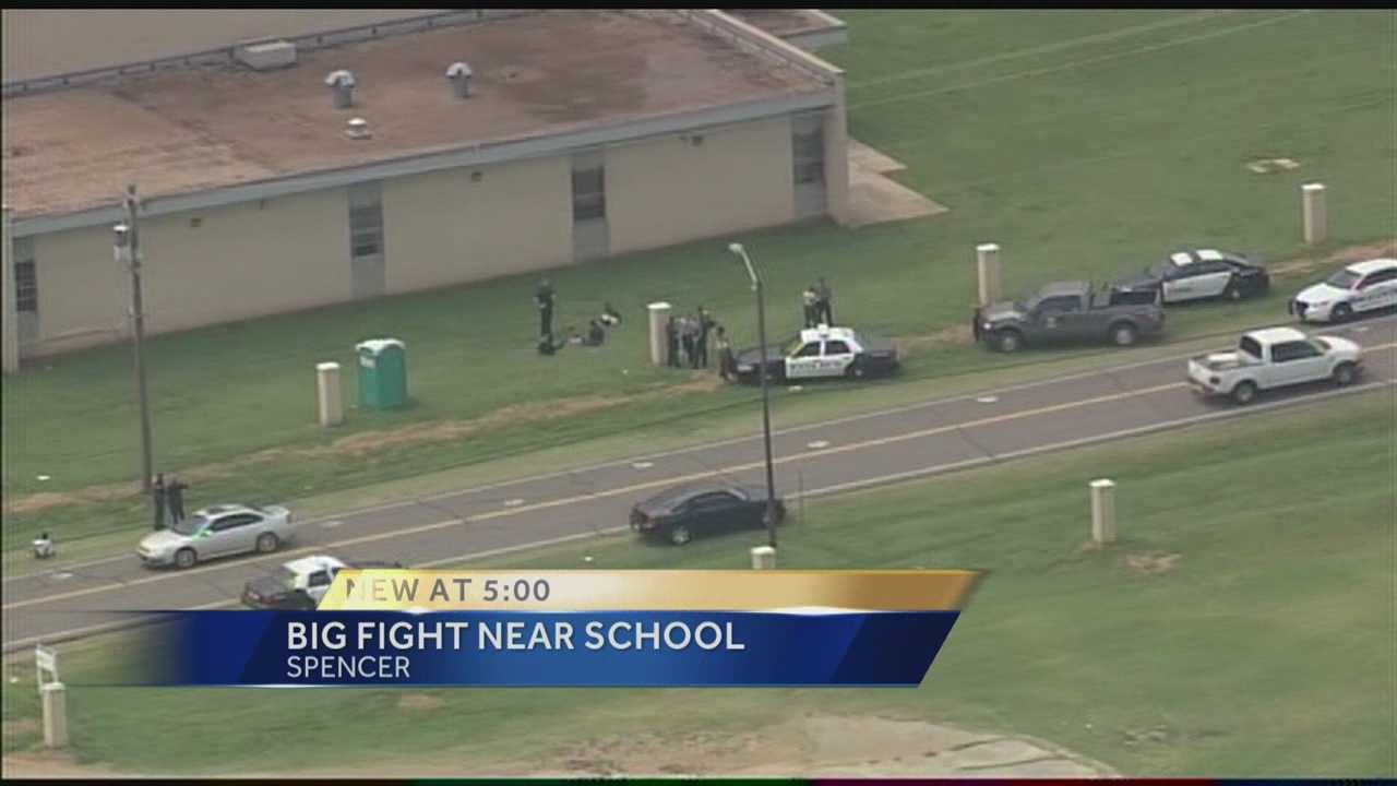 Oklahoma County sheriff's deputies are investigating after they said a fight broke out among a large group near an Oklahoma City school.