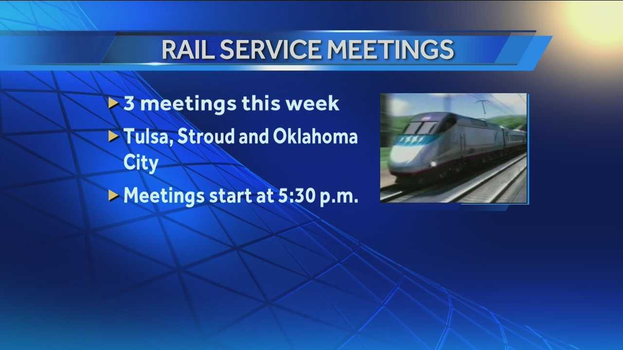 Officials will meet to discuss a rail service from OKC to Tulsa.